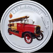 "Монета Острова Кука 1 доллар 2006 г. ""Пожарная машина"" 1923 LF 15"