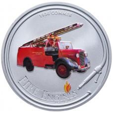 "Монета Острова Кука 1 доллар 2006 г. ""Пожарная машина"" 1934 COMMER"