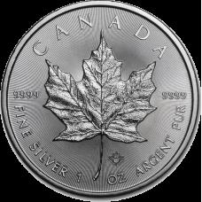 Канадский Кленовый лист; 5 Dollars; 1oz